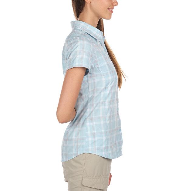 Silver Ridge Multi Plaid Kısa Kollu Kadın Gömlek