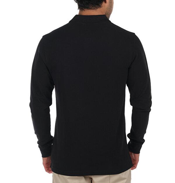 M Cascade Range Solid Uzun Kollu Erkek Polo T-shirt