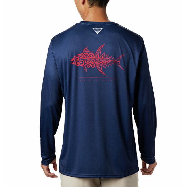Terminal Tackle PFG Tribal Fish Uzun Kolllu Erkek T-shirt