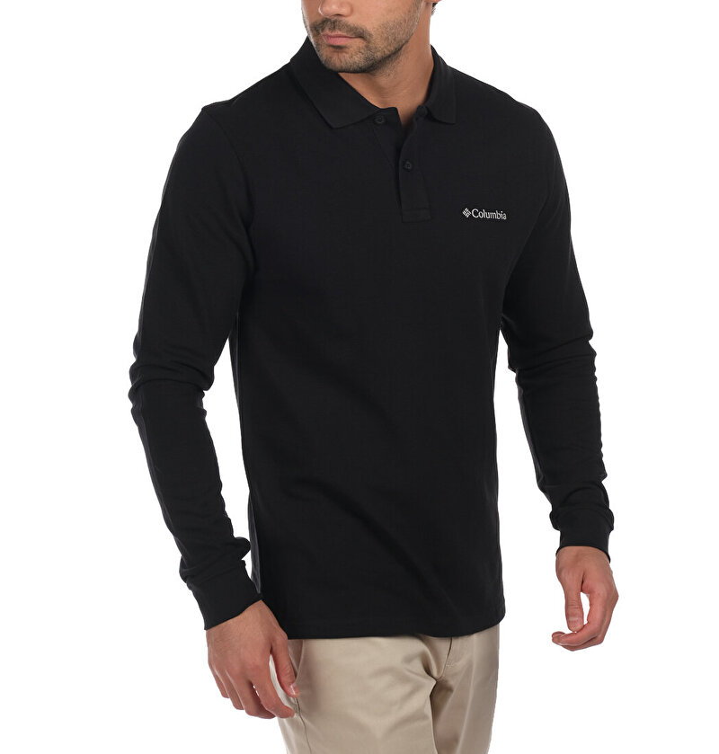M Cascade Range Solid LS Erkek Polo T-shirt