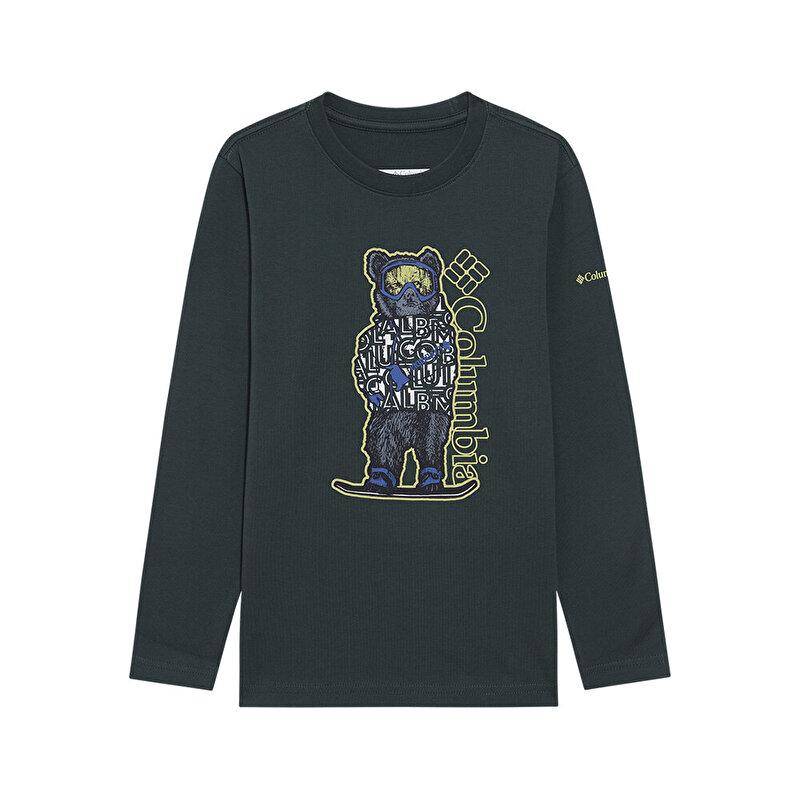 Y Grizzly Boarding Graphic Uzun Kollu Çocuk T-shirt